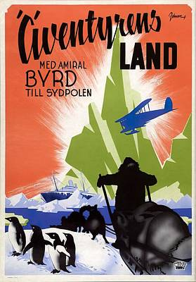 Royalty-Free and Rights-Managed Images - With Byrd at the South Pole, 1930 by Stars on Art