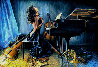 Music Paintings - With Passion by Hanne Lore Koehler