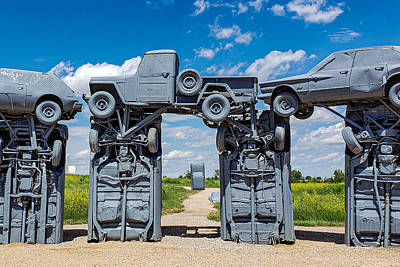 Classic Christmas Movies - Within the Circle - Carhenge by Bonny Puckett