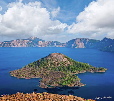 Photograph - Wizard Island and Crater Lake by Jeff Goulden