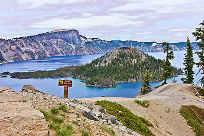 Design Pics - Wizard Island Crater Lake Oregon Two by Joyce Dickens