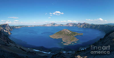 Royalty-Free and Rights-Managed Images - Wizard Island in Crater Lake  by Michael Ver Sprill