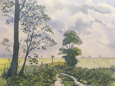 Painting - Woldgate from Zig Zag Wood by Glenn Marshall