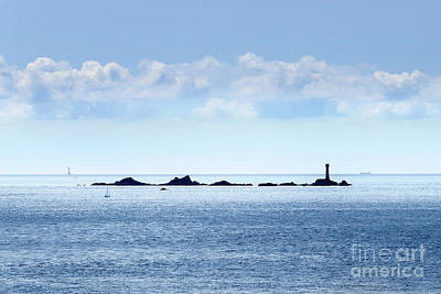 Animals Royalty-Free and Rights-Managed Images - Wolf and Longships From Cape Cornwall by Terri Waters