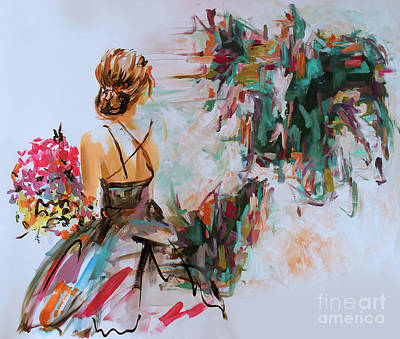 Pasta Al Dente - Woman Collecting flowers  by Gull G