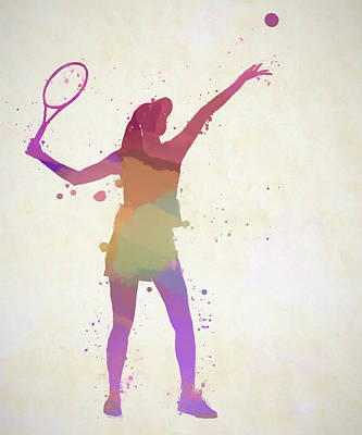 Sports Paintings - Woman Tennis Player by Dan Sproul