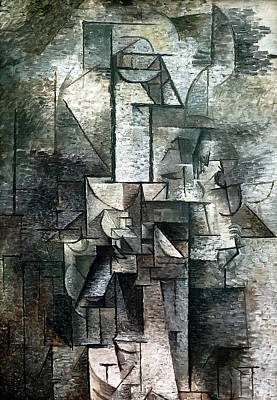 Abstract Royalty-Free and Rights-Managed Images - Woman with a Violin by Pablo Picasso