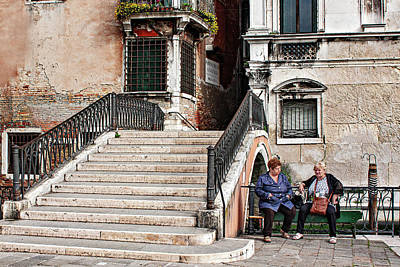 Whats Your Sign - Women by a Bridge - Venice by Barry O Carroll