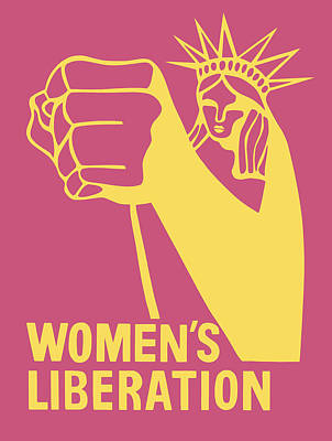 Royalty-Free and Rights-Managed Images - Womens Liberation Graphic - Statue of Liberty - 1970 by War Is Hell Store