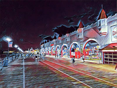 Surrealism Royalty-Free and Rights-Managed Images - Wonderland at Night by Surreal Jersey Shore