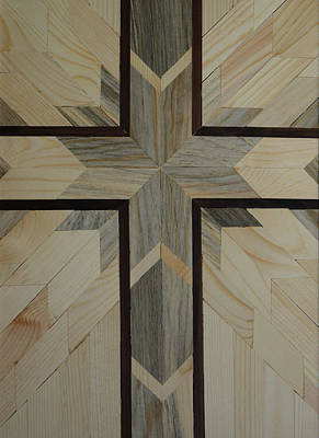 Giuseppe Cristiano Royalty Free Images - Wood Art Cross Royalty-Free Image by Whispering Peaks Photography