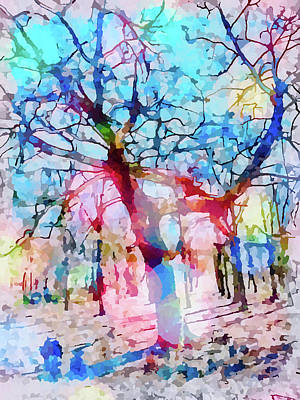 Mixed Media Royalty Free Images - Woodland walks Royalty-Free Image by Muirhead Gallery