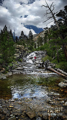 Anne Geddes Collection - Woods Creek Waterfall - John Muir Trail by Bruce Lemons