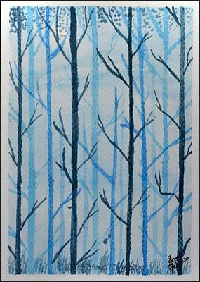 Old Masters - Woods in blue by Sonali Gangane
