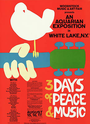 Royalty-Free and Rights-Managed Images - Woodstock 1969 by Stars on Art