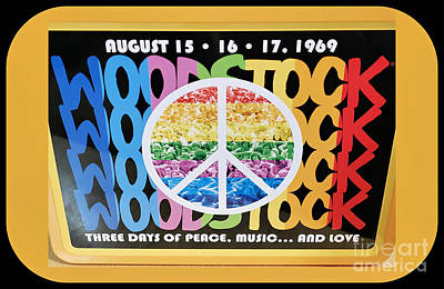 Still Life Royalty-Free and Rights-Managed Images - Woodstock Poster Art by Diann Fisher