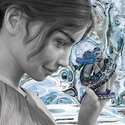 Surrealism Digital Art - Words Unspoken by Betsy Knapp