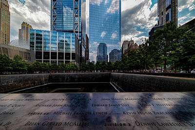 Vintage Automobiles - World Trade Center Memorial and Skyline NYC by Robert Ullmann