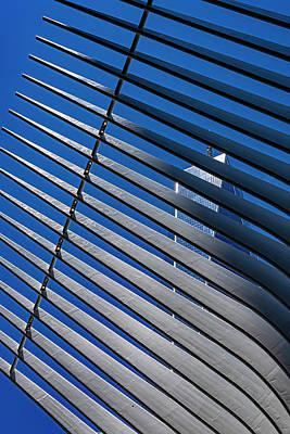 Rabbit Marcus The Great - World Trade Center Seen Through Oculus Center Beams by Robert Ullmann
