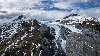 Bath Time - Worthington Glacier Close Up - Aerial Panorama by Alex Mironyuk