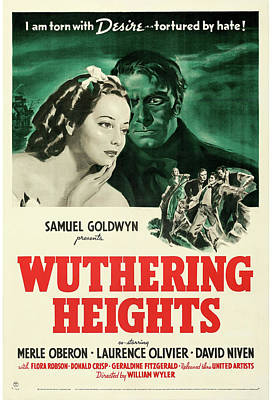Mixed Media Royalty Free Images - Wuthering Heights poster 1939 Royalty-Free Image by Stars on Art
