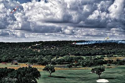 Photograph - WW2 Flyover at Boot Ranch  by Miguel Lecuona