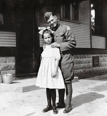 Claude Monet - WWI Soldier with Young Girl by Marilyn Hunt