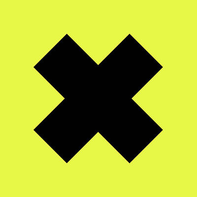 Royalty-Free and Rights-Managed Images - X Cross - Saint Andrews Cross - Saltire 10 - Yellow and Black by Studio Grafiikka