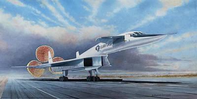 Impressionist Nudes Old Masters - XB-70A Landing by Douglas Castleman