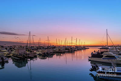 Achieving - Yachts at Sunset by Phill Petrovic