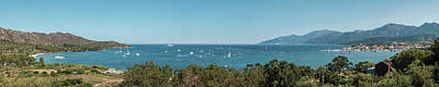 Photograph - Yachts in the bay at Saint Florent in Corsica by Jon Ingall