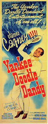 Outdoor Graphic Tees - Yankee Doodle Dandy poster 1942 by Stars on Art