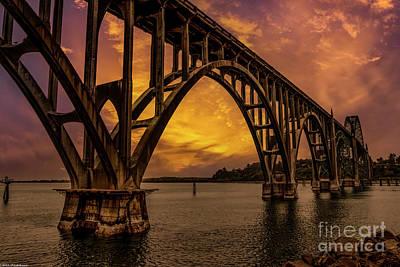 Bicycle Patents - Yaquina Bay Bridge by Mitch Shindelbower