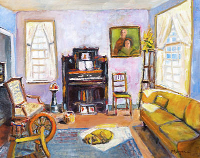 Painting - Yaquina Bay Lighthouse Parlor by Mike Bergen