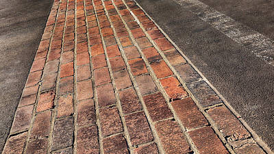 Abstract Stripe Patterns - Yard of Bricks - Indy #9 by Stephen Stookey