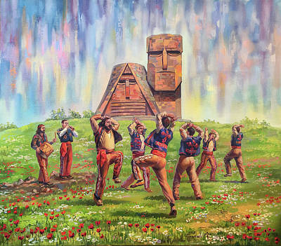 Painting - Yarkhushta and Artsakh by Meruzhan Khachatryan