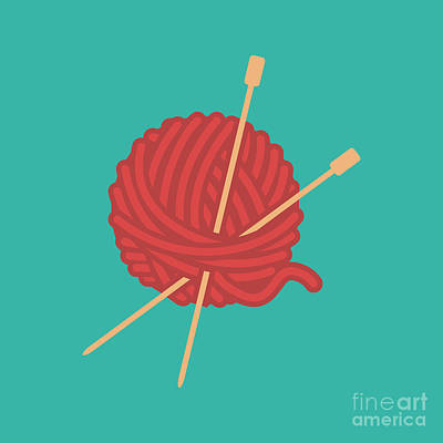 Royalty-Free and Rights-Managed Images - Yarn Ball Of Wool by THP Creative