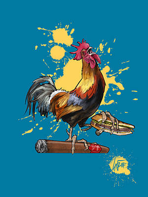 Royalty-Free and Rights-Managed Images - Ybor City Rooster by Canine Caricatures Custom Merchandise