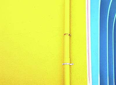 Fun Patterns - Yellow and Blue by Allen Beatty