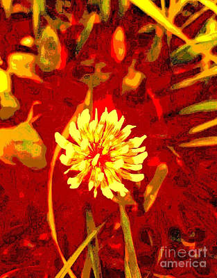 Digital Art - Yellow Clover by Tracey Lee Cassin