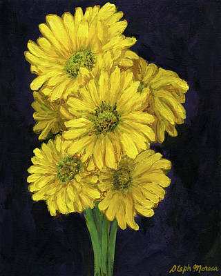 Painting - Yellow Daisies by Steph Moraca