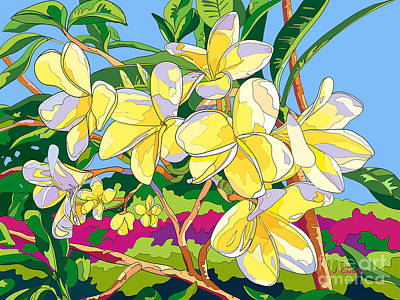 Royalty-Free and Rights-Managed Images - Yellow Frangipani by John Clark