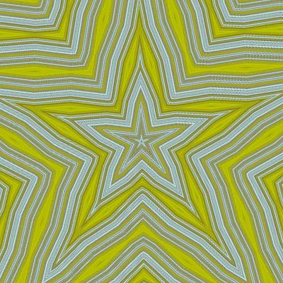 Digital Art - Yellow Gold White Stars by Wilma Barnwell