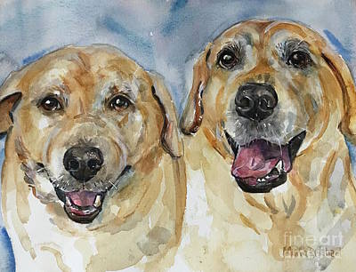 Painting - Yellow Labs by Maria Reichert