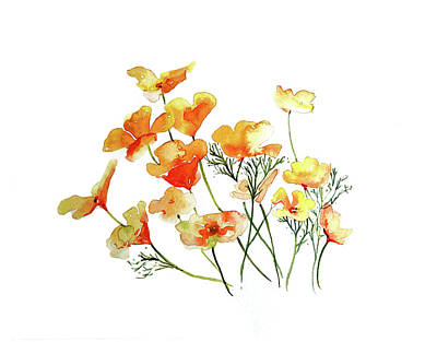 Ethereal - Yellow Poppies by Luisa Millicent