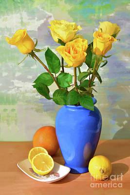 Madonna - Yellow Rose and Lemon Still Life  by Regina Geoghan