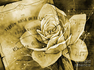 Advertising Archives - Yellow Rose of Texas in yellow tone by Hailey E Herrera