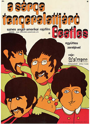 Mixed Media Royalty Free Images - Yellow Submarine poster 1968 Royalty-Free Image by Stars on Art