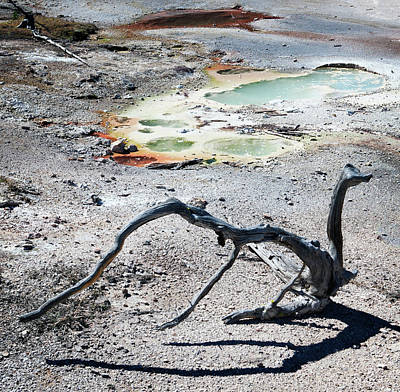 Whimsically Poetic Photographs Rights Managed Images - Yellowstone Geyser Pools 2 Royalty-Free Image by Marilyn Hunt
