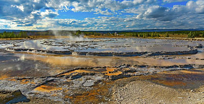 Mountain Landscape - Yellowstone National Park - Hot Spring by David Hintz